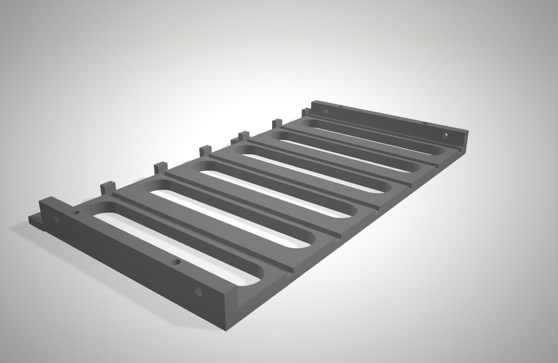 3dmodel parts rack bottom