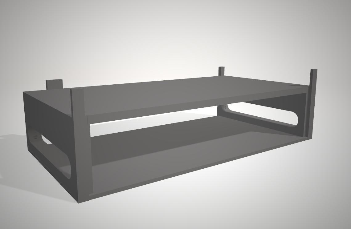 3dmodel parts rack option bottom switch rack