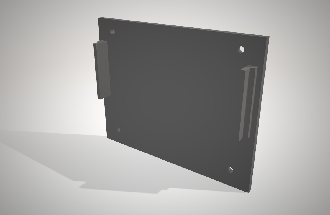3dmodel parts rack side sdcardreaderholder