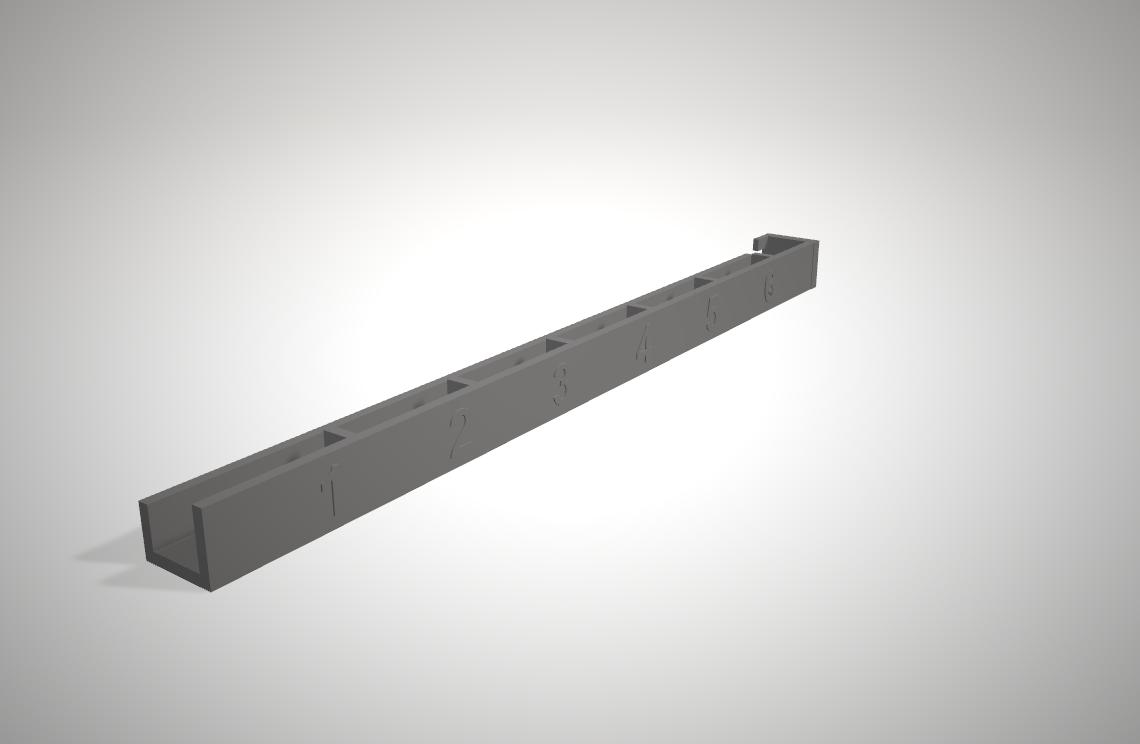 3dmodel parts rack wires management fronttop